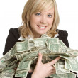 Businesswoman Holding Money — Stock Photo #4026134