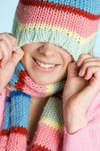 Winter Hat Girl — Stock Photo