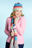 Beanie Scarf Girl — Stock Photo