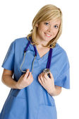 Pretty Blond Nurse — Stock Photo