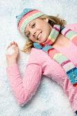 Snow Girl — Stock Photo