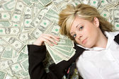 Money Woman — Stock Photo
