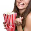 Popcorn Girl — Stock Photo #4057572