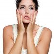 Frustrated Upset Woman - Stock Photo