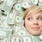 Cash Money Woman — Stock Photo