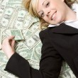Stock Photo: Smiling Money Woman