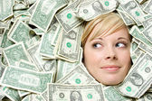 Cash Money Woman — Stock Photo