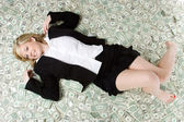 Money Businesswoman — Stock Photo