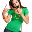Teenage Girl Singing - Stock Photo