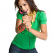 Teen Girl Singing — Stock Photo