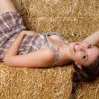 Pretty Country Girl - Stock Photo