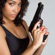 Gun Woman — Foto de stock #4439661