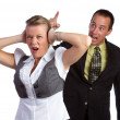 Couple Fighting - Stock Photo