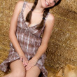 Smiling Country Girl — Stok fotoğraf