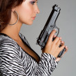 Gun Woman — Stock Photo #4613770