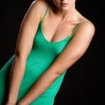 Green Dress Woman — Stock Photo