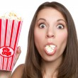 Girl Eating Popcorn — Stock Photo #4643781
