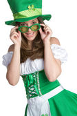 St Patricks Day Woman — ストック写真