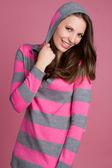 Meisje dragen van roze — Stockfoto