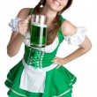 St patricks day Tjej — Stockfoto