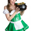 St Patrick's Day Girl — Stock Photo