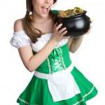 St Patrick's Day Girl — Stock Photo