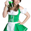 St Patricks Tag Frau — Stockfoto