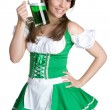 St Patricks Day Woman — Stock Photo