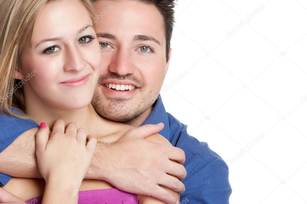 Happy young couple hugging love  Stock Photo #5056588