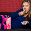 Popcorn Girl — Stock Photo