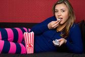 Popcorn Girl — Stock Photo