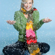 snow girl — Stock Photo