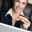 Stock Photo: Credit Card Woman