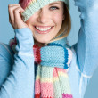 Playful Winter Woman - Stock Photo