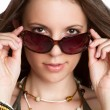 Sexy Sunglasses Woman - Stock Photo