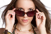 Sexy Sunglasses Woman — Stockfoto