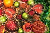 Decorações de Natal-árvore — Fotografia Stock