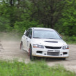 Stock Photo: White rally car on the racing