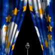 Royalty-Free Stock Photo: Theatre curtain of European Union