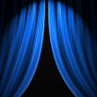 Theatre stage curtain — Stock Photo