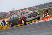 Racing car drifting on track — Stock Photo