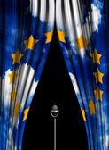 Theatre curtain of European Union — Stock Photo