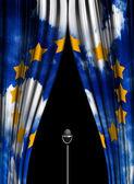 Theater vorhang der europäischen union — Stockfoto