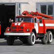 Fire Engine on street - Stock Photo