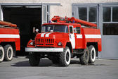 Fire Engine on street — Stockfoto
