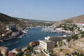 Hafen und die bucht in krimea — Stockfoto