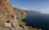 Rock och havet i krimea — Stockfoto
