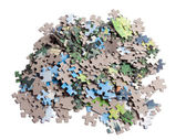 Puzzle isolated on white — Stock Photo