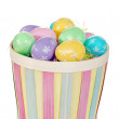 Royalty-Free Stock Photo: Isolated easter basket with colorful eggs