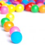 Line of gum balls — Stock Photo #4186617